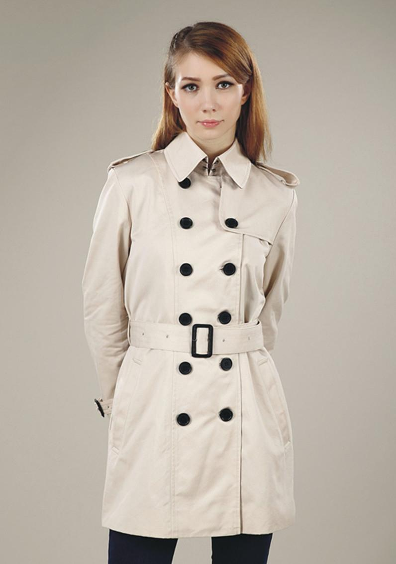 HOT CLASSIC! WOMEN FASHION ENGLAND MIDDLE LONG TRENCH COAT/HIGH QUALITY DOUBLE BREASTED BELTED TRENCH FOR WOMEN S-XXL FREE SHIPPING 6S0I