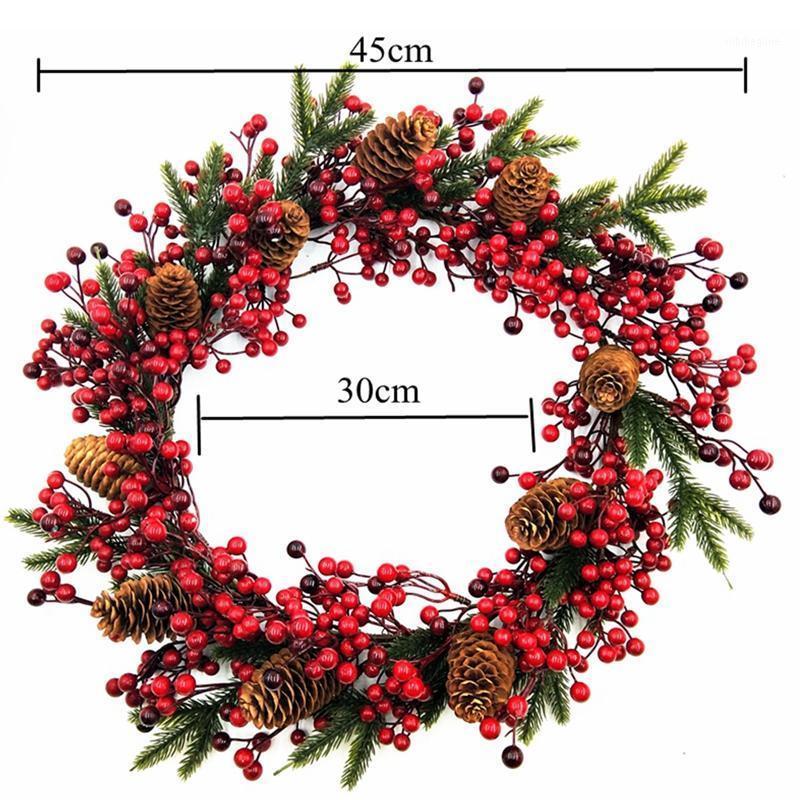 10 шт. 45см красные ягоды ротанга рождественские венок гирлянда украшения красный венок висит рождественские украшения высокое качество1