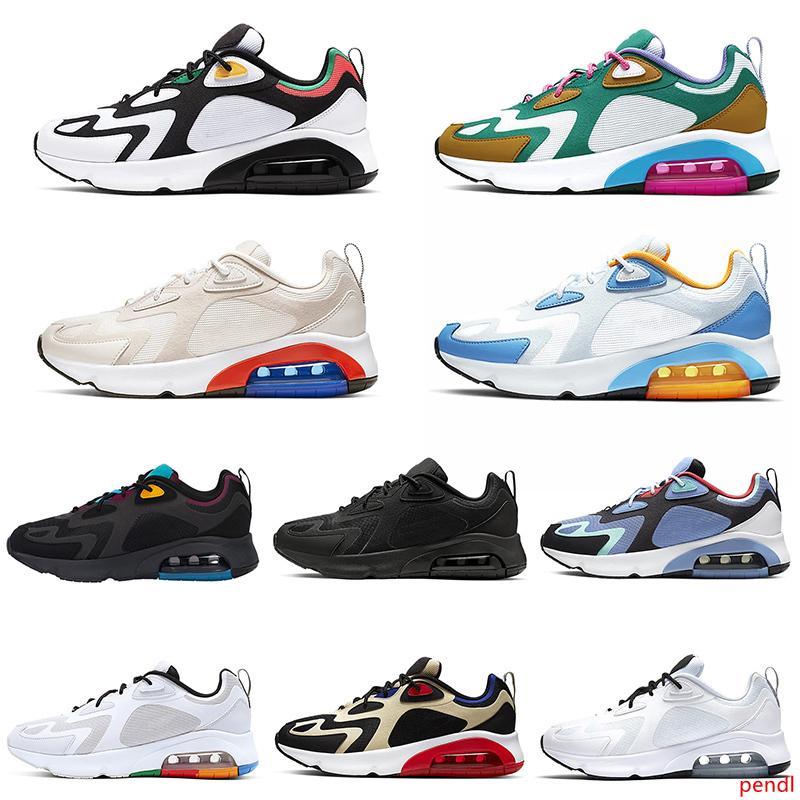 2019 más nuevos hombres de los zapatos corrientes 200 Burdeos arena del desierto Mystic cojín Negro Verde para hombre Formadores 200s elástico Deportes zapatillas de deporte 40-46 euros