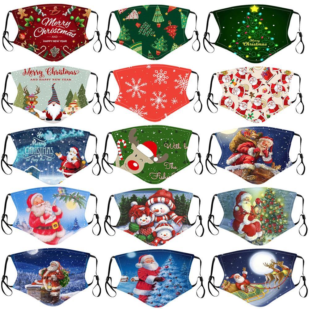 С Рождеством маски для лица детей взрослых Санта Клаус подарков Снежинки Детского печати мультфильм дизайнер дышащей маска для лица пыле РМ2,5 партии