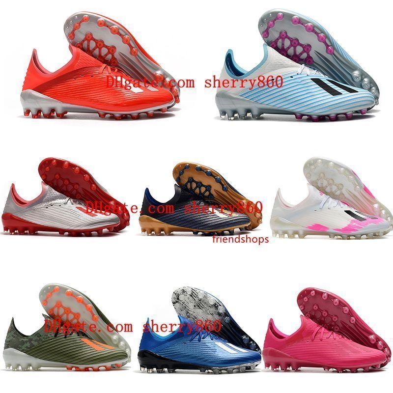 2020 hochwertige Mensfußballschuhe X 19.1 AG Low Fußballschuhe Outdoor Fußballschuhe Spikes scarpe calcio neue heiße
