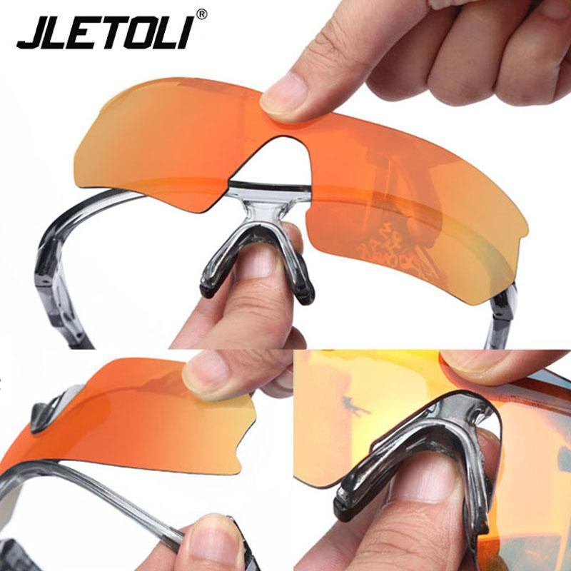 Occhiali da sole Unisex Bicycle Bike Goggles Outdoor Sport All'aperto Cycling Polarized Glasses Road Riding Protezione Jletoli Eyewear 5 Lens Jotoi