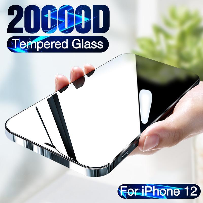 20000D Полное покрытие закаленное стекло для iPhone 12 Мини-экран Protector для iPhone 12 Pro Max Protection экран iPhone 12
