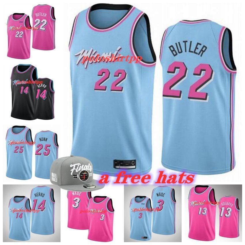 Negro Mesh 2020//21 Temporada de Baloncesto Miami Hombres Deportes #14 Tyler Transpirable Herro Baloncesto Jersey Bordado Deportes Calor Camisetas