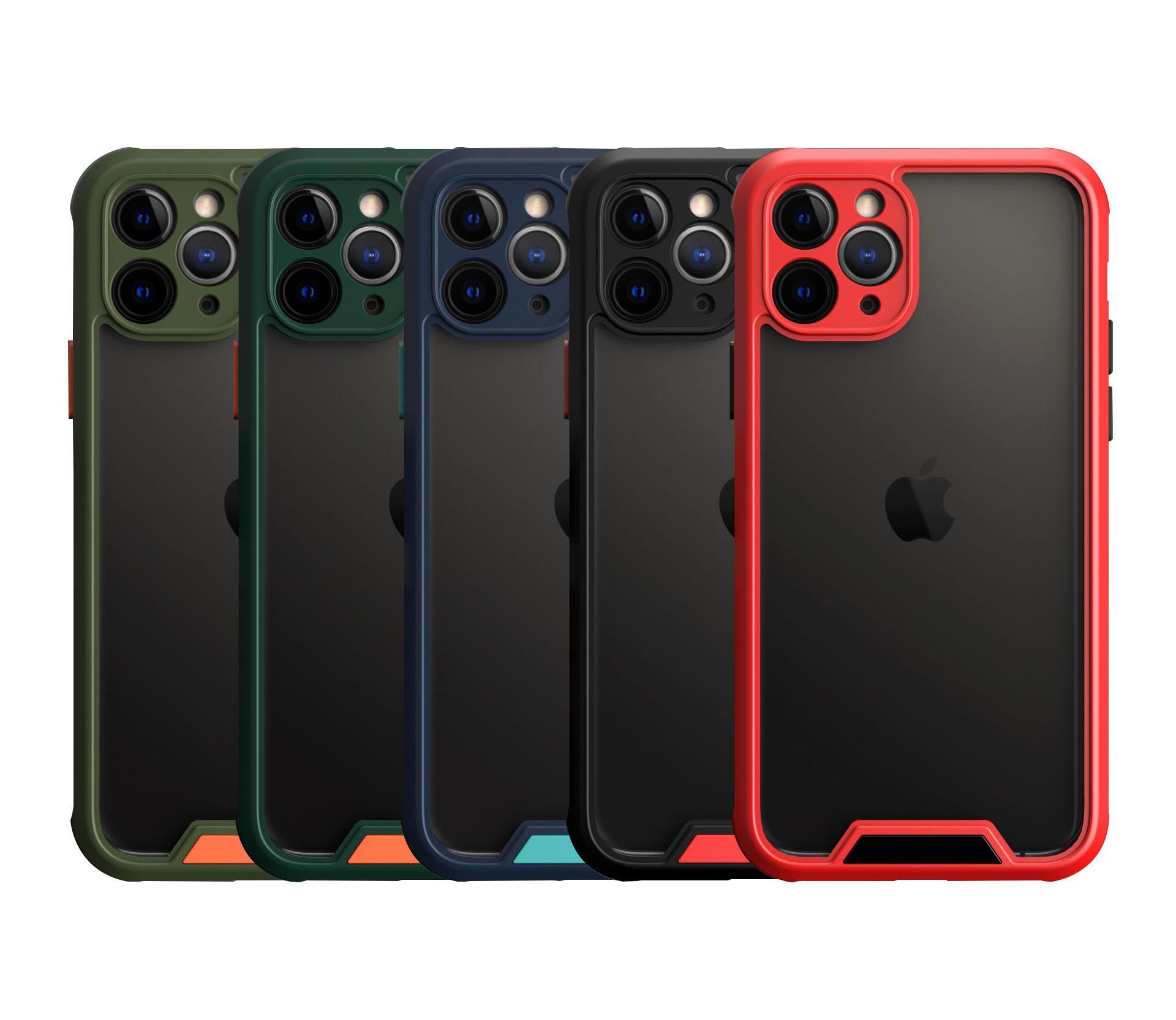 Zırh Kontrast Renk Yüksek Şeffaflık Temizle Askeri Darbeye Dayanıklı Telefon Kılıfı iPhone 12 Mini 11 Pro Max 6 7 8 Artı XR XS