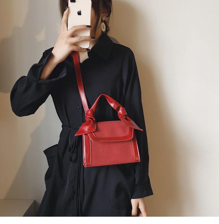 Дизайнер-мода Trend Messenger Сумка Портативная ПУ Кожа Малый Квадратный Сумки Crossbody Одиночная сумка Back