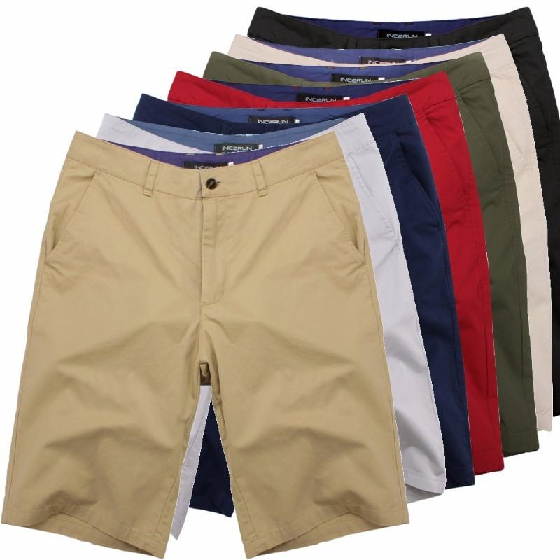 Summer Casual Classic Men Fashion Cotton Ginocchio Lunghezza Chino Jogging Shorts Big Size 44 Masculina Bodem Beach