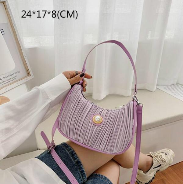 Moda plissadas Mulheres nas axilas Bag Lady Bolsas de Ombro Baguette Bolsas Irmã pequeno saco