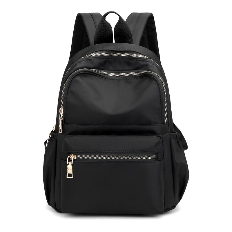 Casual Oxford Women Black Waterproof Nylon School Bags For Teenage Girls Fashion Travel Backpack Tote Mochila Q1113