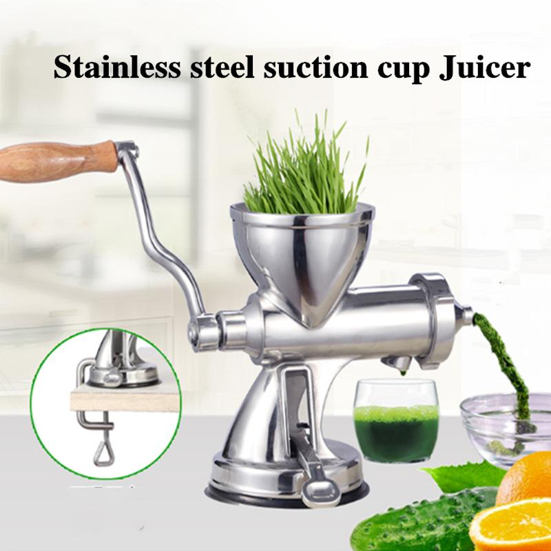 DHL GRÁTIS! Novo 304 # Aço Inoxidável Wheatgrass Juicer Slow Skeeezer Frutas Grama de Chuva Vegetal Suco de laranja Press Malt Herb Machine