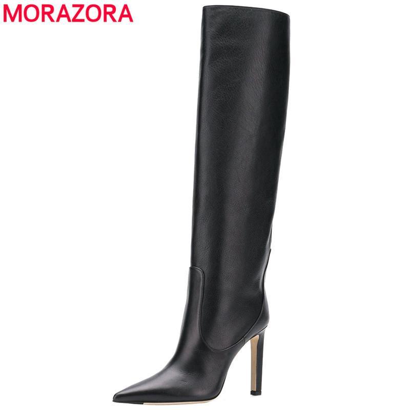 botas de inverno Outono sexy stiletto saltos altos botas mulheres sapatos pontas senhoras dedo do pé partido namoro joelho alta boots210