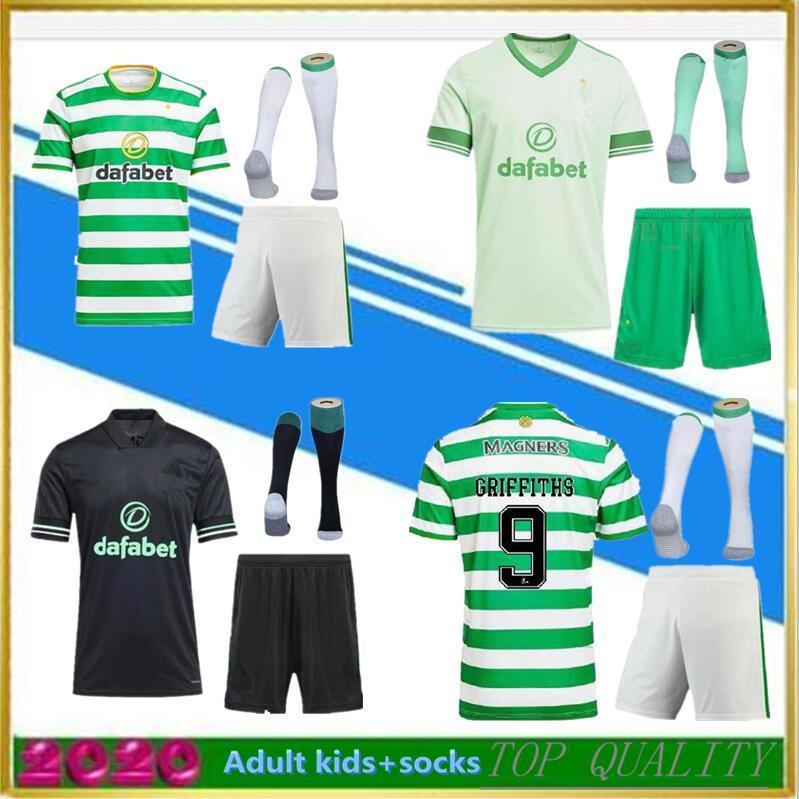 Erkekler Çocuk Kiti + Çorap 2020 2021 Edouard Futbol Formaları 20/21 Kahverengi Forrest Christie Griffiths McGregor Futbol Gömlek