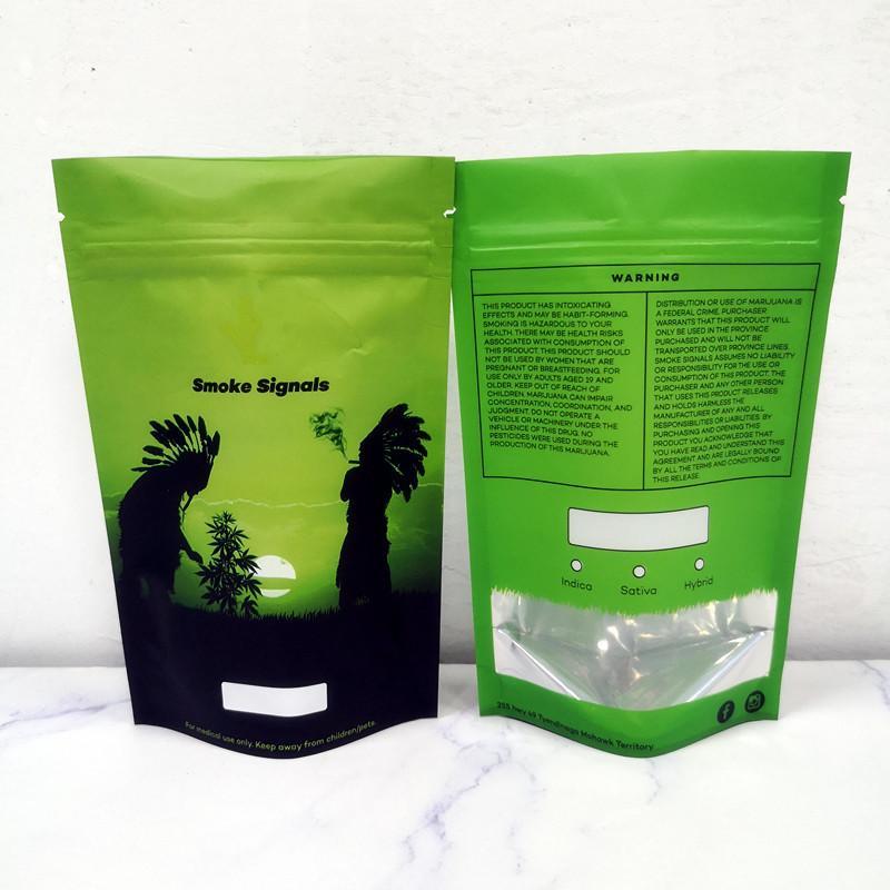3.5g Borse Mylar Borsa a cerniera Herb Zipper Borsa a secco Tabacco Retail Pacchetto Zushi Odore A Problement Packaging