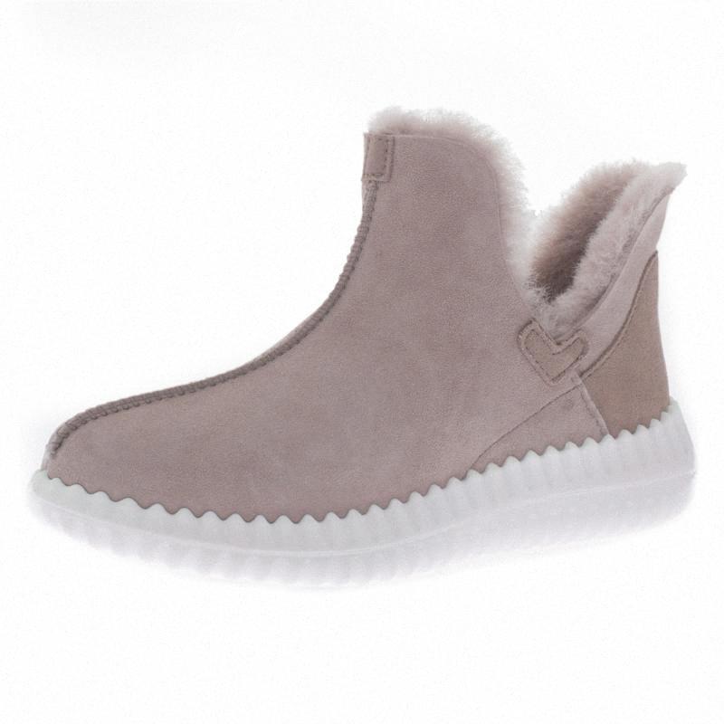 Womens neve Botas, alinhado pele botas de inverno quente impermeável ao ar livre Moda Ankle Bootie oQC5 #