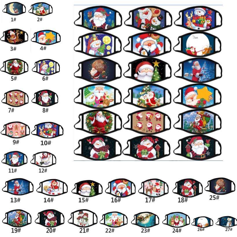 Yeni Noel Yetişkin Baskılı Anti-sis Yıkanabilir Pamuk Maskeler Renk Noel Karikatür Yüz Maskesi Moda Tasarımı facemasks HH9-3549 Maskesi
