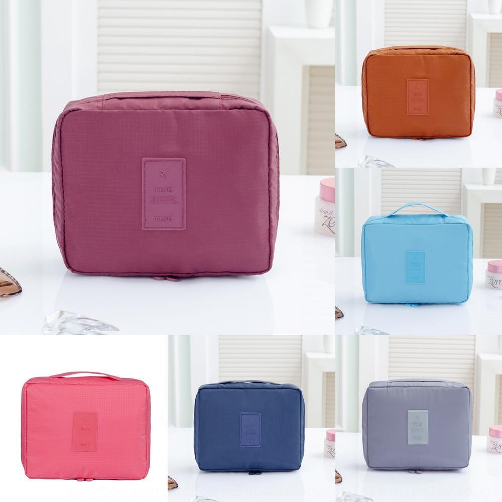 Coreano curso de lavagem de poliéster impermeável saco de armazenamento de armazenamento saco de portátil de viagem portátil cosméticos podem Ann1X