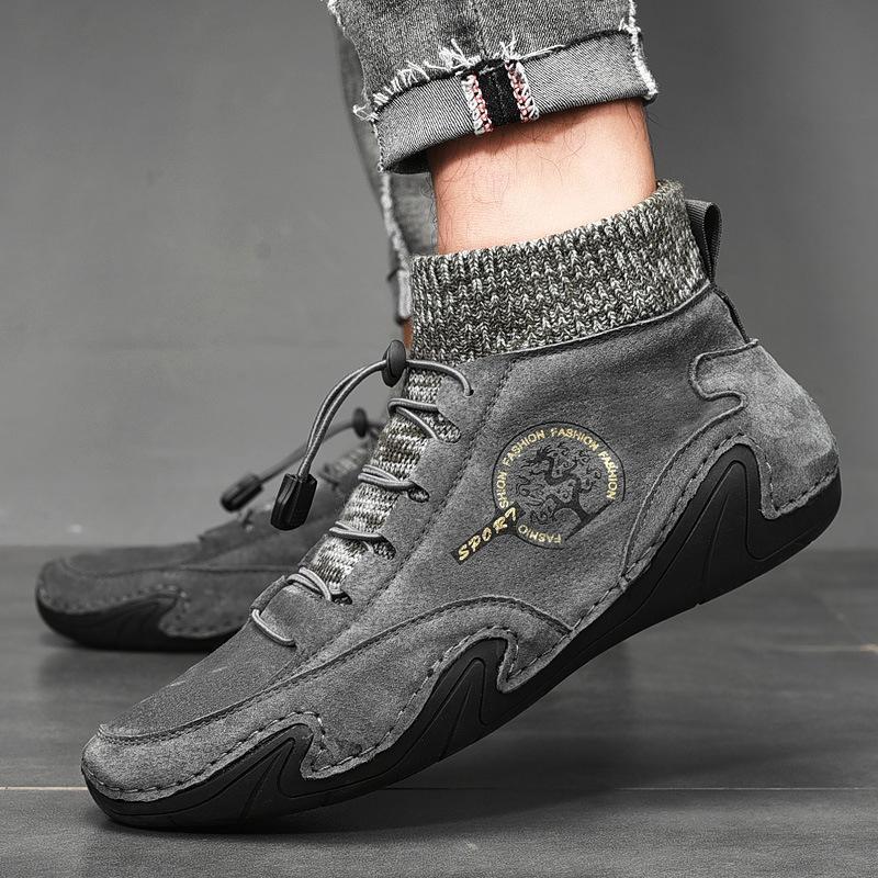 dYG1E большого размера мужских новая середины верхняя и Дуда Дуда хлопок осьминог мужской повседневной обувь Корейских моды фасоль обувь