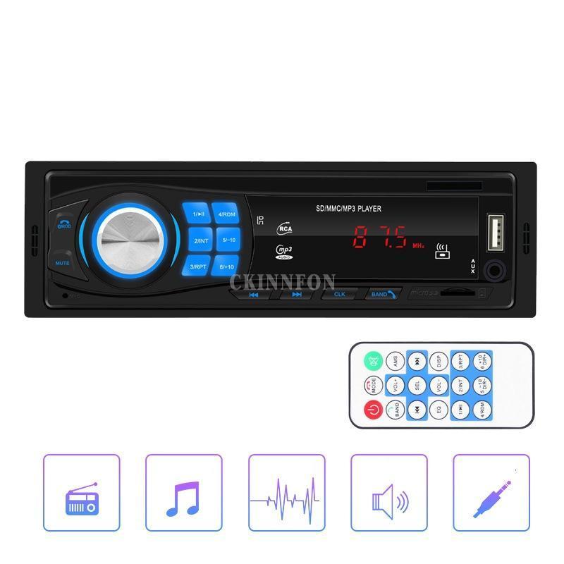 Auto Audio 20 teile / los 1 DIN STEREO MP3-Player Single in Dash Head Unit Bluetooth USB AUX FM Radio 8013