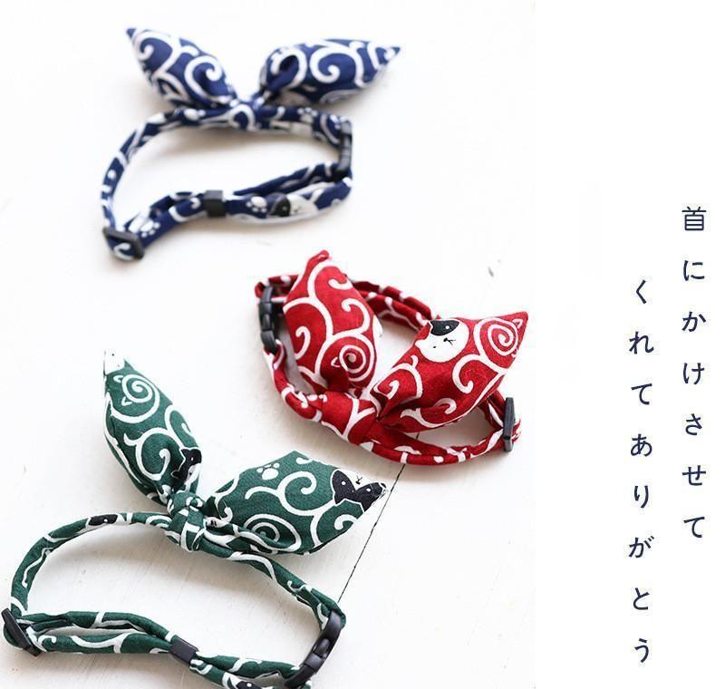 Decoraciones para mascotas Accesorios para mascotas para gatos japoneses para gatos Bow Pie Hermoso Cuello de gato lindo cómodo Cuello de perro ajustable JllirQD BDEBAG