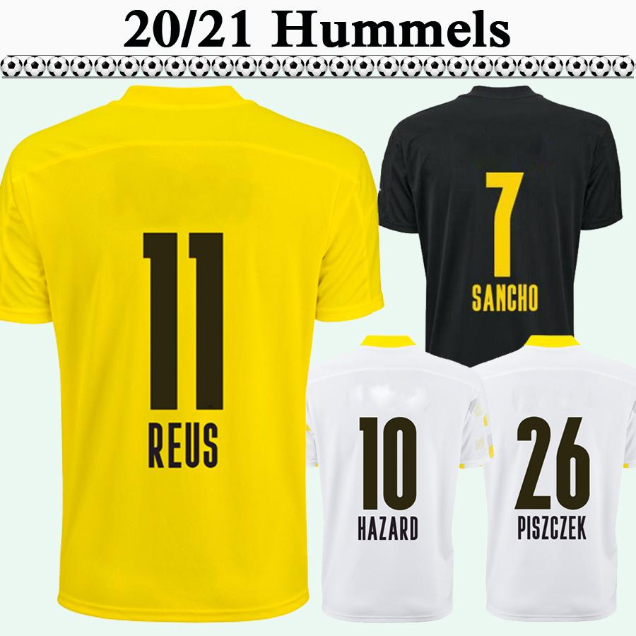 20 21 REUS HUMMELS Hommes Maillots de Football Nouveau DANGER WEIGL PISZCZEK WEIGL Domicile Extérieur 3e SCHMELZER WOLF Football Shirt Uniformes À Manches Courtes