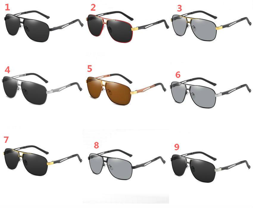 2020 neue Sonnenbrille für Männer Sport polarisierte Sonnenbrille metallisch retro Sonnenbrille 9colors Google Gläser 5pcs / lot.