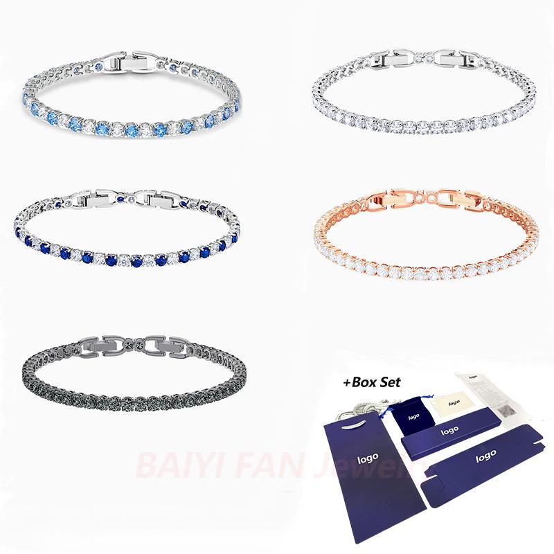 Fashion Jewelry SWA New TENNIS DELUXE Bracelet Claw Stone Inlaid Round Crystal Feminine Fresh and Pleasing Romantic Jewelry Gift 1028