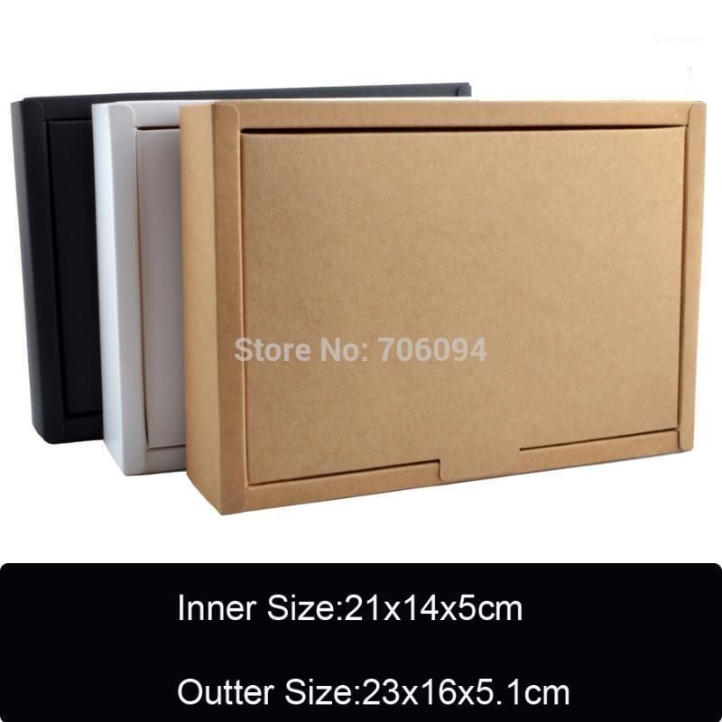 10pcs / lot 350gsm scatola di carta kraft per regalo torta bello bianco / nero / kraft1