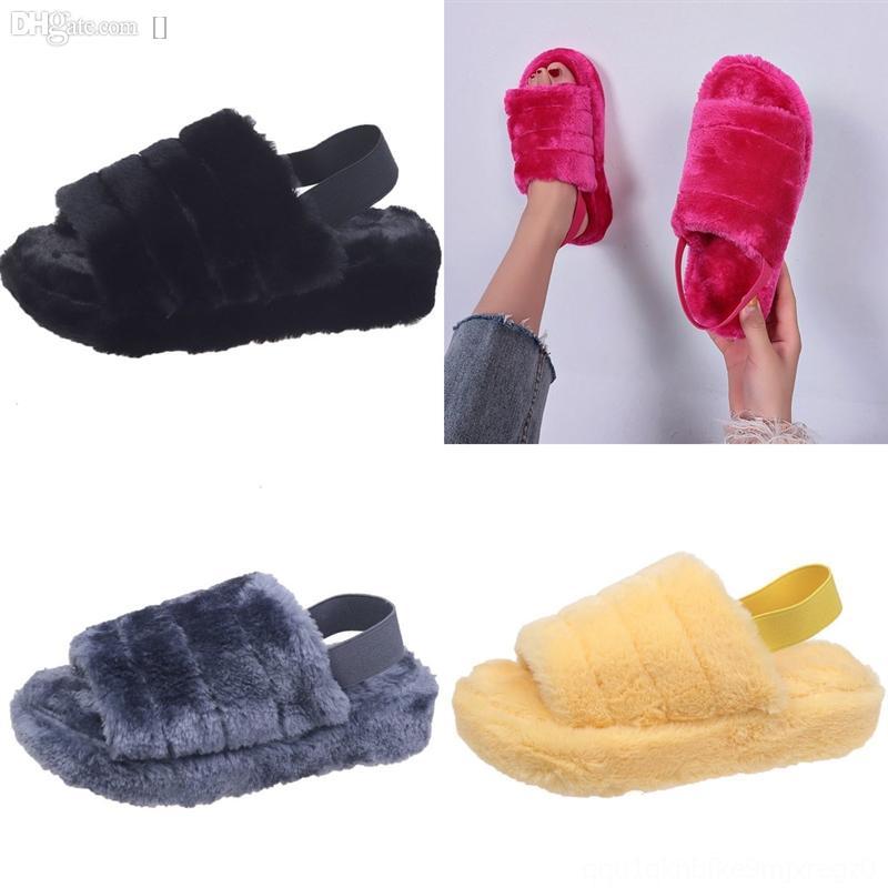 FHQQW Luxus Designer Sandalen Leder Müßiggänger Pelz Muller Mode Withslipper Hohe Qualität Frauen Princetown Slipper Casual Fell