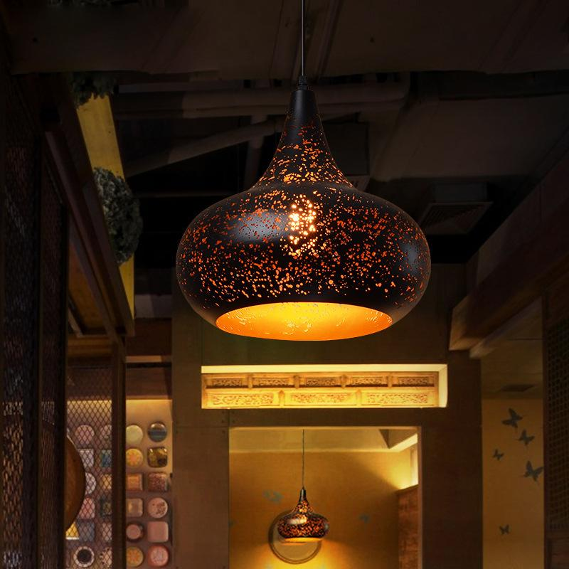 Nordic Loft Retro Промышленный стиль Ностальгический ресторан Светодиодная Люстра Креативная Личность Кофейня Бар Одиночная головная Бар Светодиодная Подвесная Лампа
