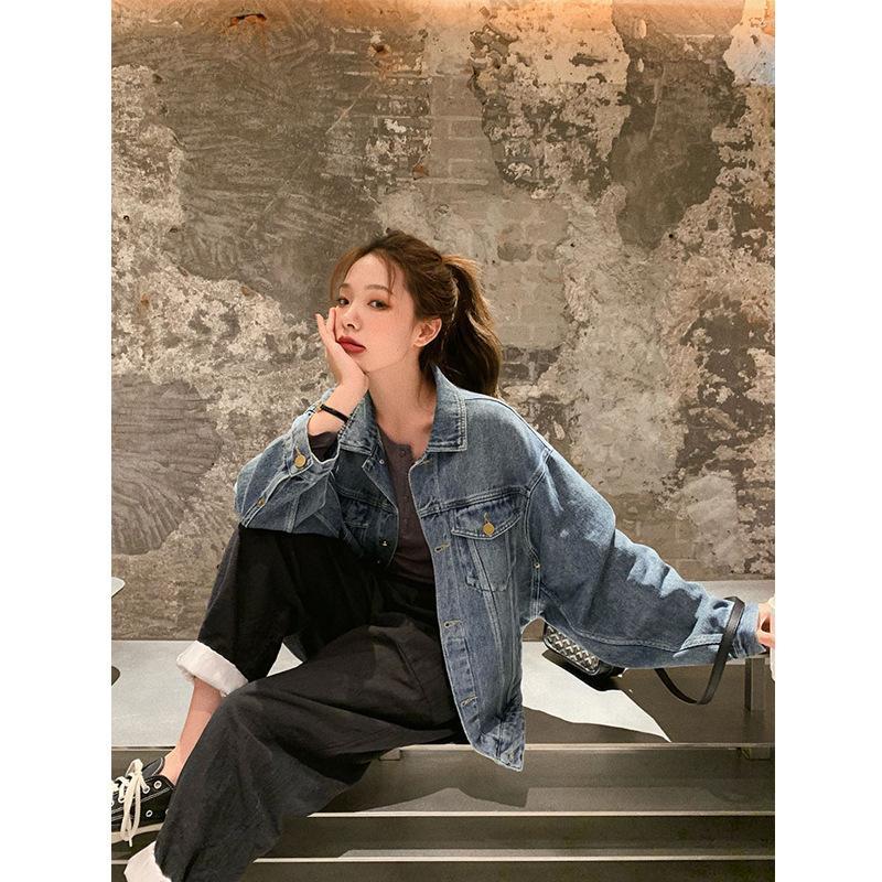 Giacca di jeans versione coreana sottile di estate delle donne sciolto e versatile vecchio superiore, Hong Kong sapore 2020 in linea Red stessa