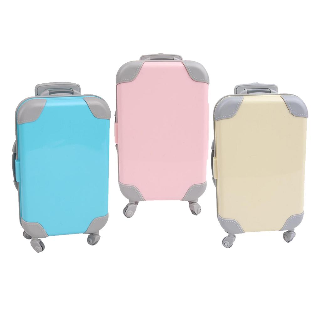 3 Pack of 18 Inch Doll Travel Set Suitcase Compatible for American Doll
