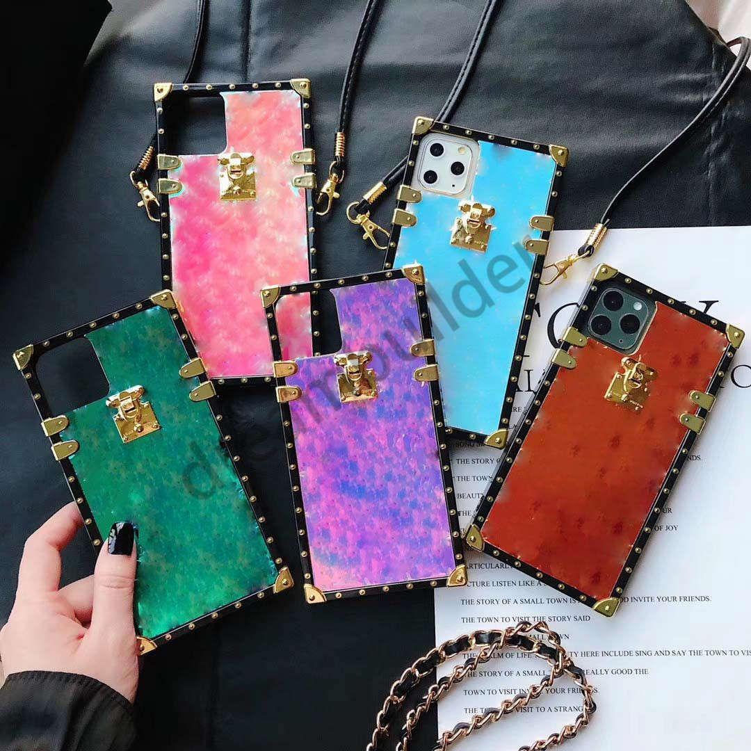 Casi del telefono della moda per iPhone 12 Pro Max 13 11 XR XSMAX PU Shell Phone Shell Samsung S20 Plus S20P S20U Nota 10 20 Caso ultra