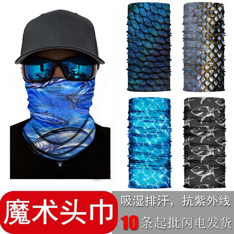 10 adetseye Balıkçılık Güneş Kremi Spor Maskesi Dikişsiz Çok Fonksiyonlu Sihirli Eşarp