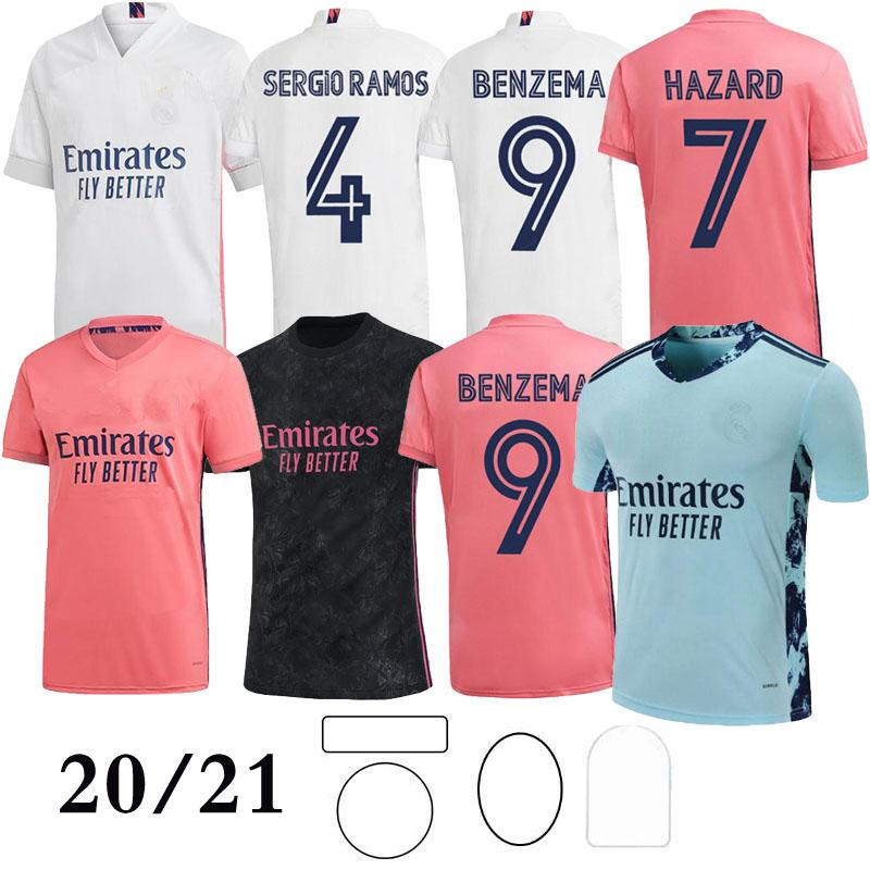 2021 Real Madrid home #7 HAZARD Soccer Jersey Thai Top quality MODRIC Marcelo Man Football shirt BALE ASENSIO Third Kit uniform