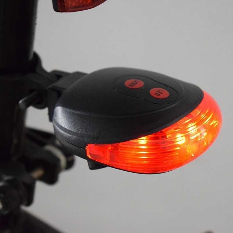 Coda Della Bicicletta Luce Davvertimento Della Bici Del Led Di Sicurezza Della Lampada a Pile Della Bicicletta Della Torcia Elettrica Mtb Accessori