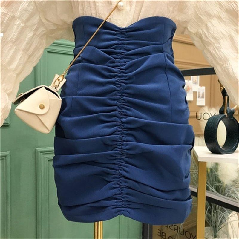 Новая осень 2021 высокая талия юбка забеженная женщина KPOP стиль улицы носить мою 3CY0