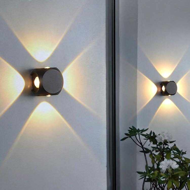 Lampada da parete a LED Lampada da parete Light Balcony Lights Apparecchio IP65 Quattro direzioni, per all'aperto Acqua Acqua DATATORE ACQUA INTERNO Decorazione Corridoio