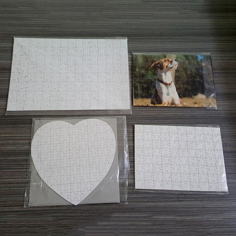 A4 Heart Shape DIY Sublimation Puzzles Heart Love Shape Puzzle Hot Transfer Printing Blank Consumables Valentine's Day Child Toys Gifts