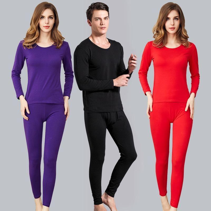 الملابس الداخلية الحرارية للرجال 2021 المرأة مريحة ودافئة مجموعة ملابس الخريف سميكة طويل جونز مرونة