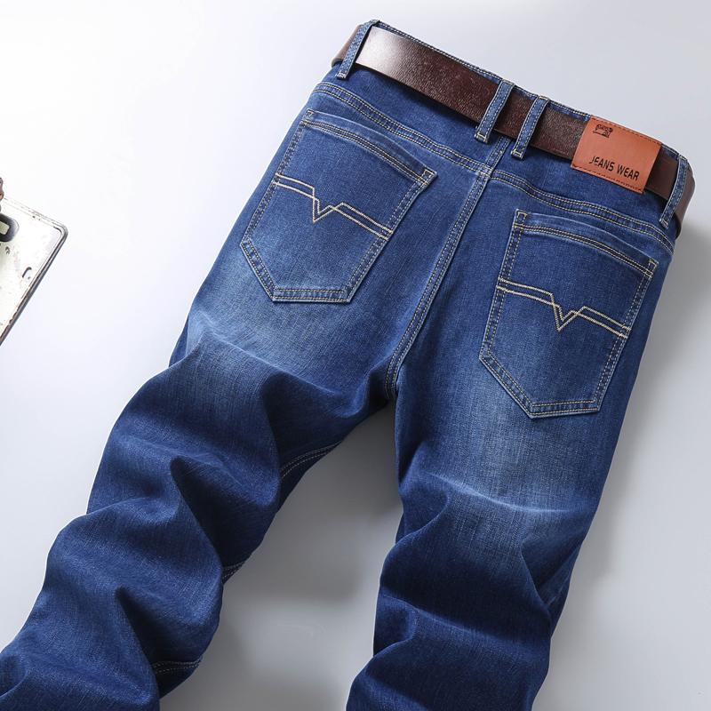 Marca 2020 Fashion Business Slim elastico nuovi uomini di stile classico Skinny jeans denim dei pantaloni dei pantaloni Male 3 Modello