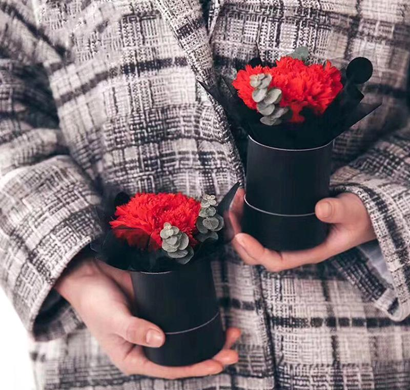 7.5x6.5cm Qyldhj Flower Mini Bouquet Regalo Portátil 1pc Bolsa de flores Redonda Bolsa de almacenamiento PVC Floristería Cubo de Florería Weddi Dayupshop Cilindro Oppmn