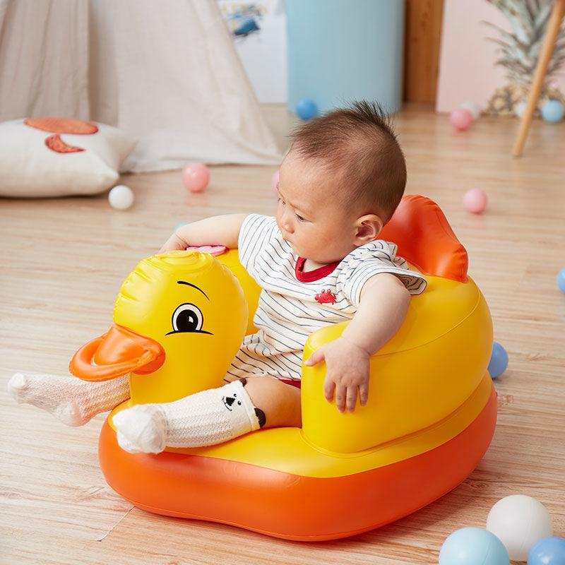 Özel Teklif Bebek Öğrenme Koltuğu Çocuk Şişme Küçük Kanepe Bebek Müzik Sandalye Taşınabilir Yemek Sandalye Banyo Taburesi