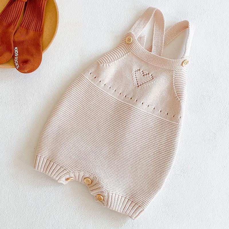 Cor sólida linda criança bebê meninos meninas romper algodão tricacto sem mangas primavera recém-nascido bebê meninos menina macacão