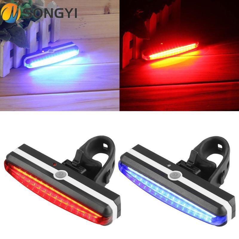 Songyi Yeni Bisiklet Işık Bisiklet Kuyruk Işık Bisiklet Ekipmanları Lamba Gece Arka USB Şarj LED Uyarı Işıkları Dağ S76