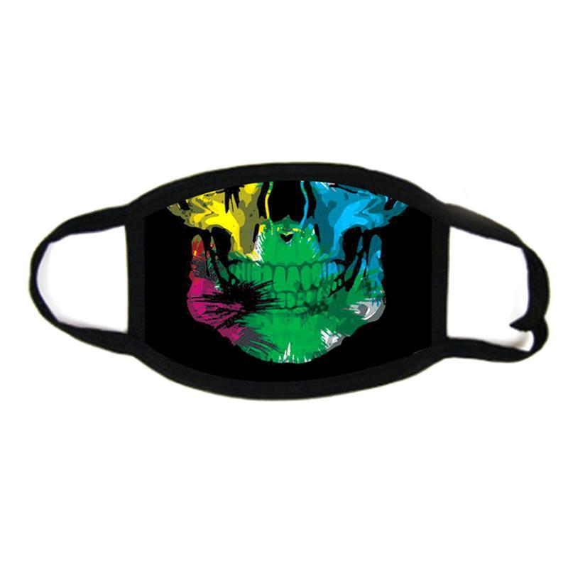 Cráneo 3d impresión diseñador cara máscara de cara algodón reutilizable cara mascarilla fuera puerta deportes en mascaras de montar de moda de algodón festivo máscara libre sh