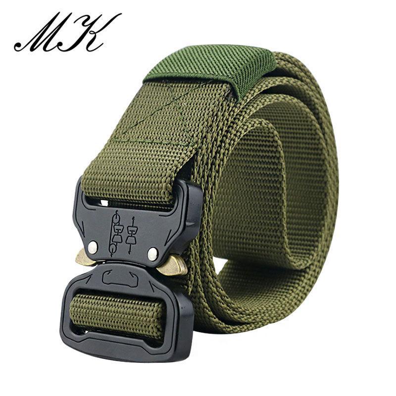 Equipamentos militares Combat Cintos Táticos para Homens Treinamento do Exército de Nylon Metal Fivela Cintura Cinto De Caça Ao Ar Livre Caçante J1223