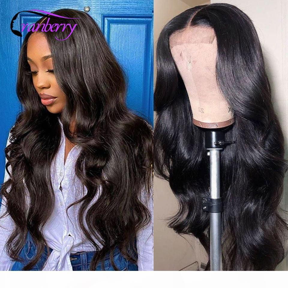 Cranberry Hair Remy Brazilian Body Wave Human Hair Wigs For Women 4x4 Lace Closure Wig Pre Plucked Hairline 360 Lace Frontal Wig