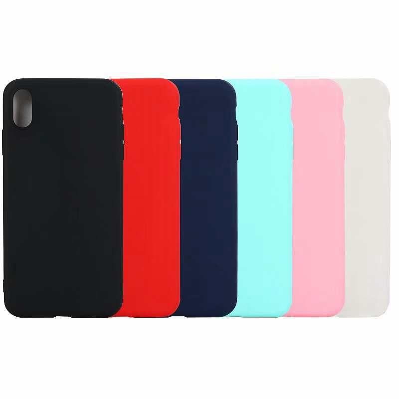 Magro Matte macio TPU Case para Iphone XR 6.1 XS MAX 6.5 X XS 8 7 6 6S Galaxy S10 Lite Plus Note9 S9 Ultra Fino Comum Luxo tampa do telefone do Coque