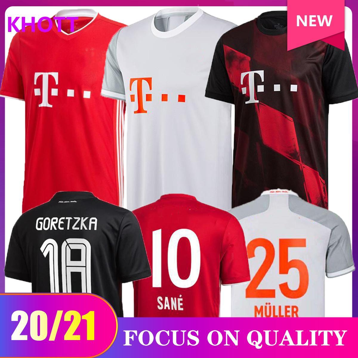 20 21 fan versione del lettore di SANE LEWANDOWSKI COMAN Bayern Monaco finale di calcio maglia 2020 21 camicia di calcio NIANZOU MUNCHEN Gnabry UOMO