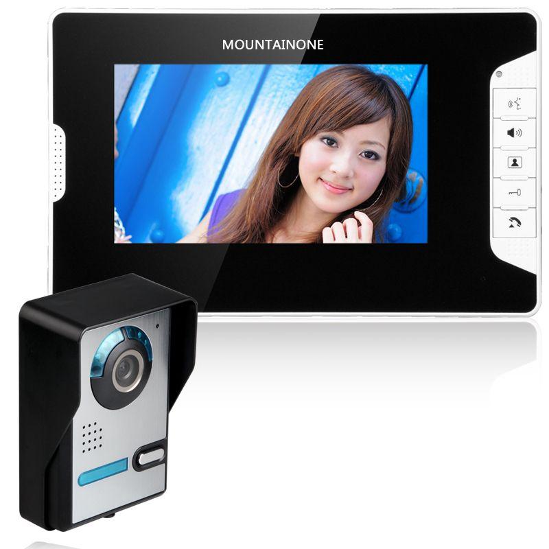 كاميرا فيديو باب الاتصال الداخلي نظام دخول كيت السلكية فيديو الجرس الهاتف غير نافذ للمطر نداء لوحة IR للمنزل فيلا شقة عمارة